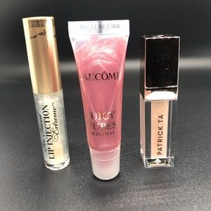 Set of 3 Two Faced Lancôme Patrick Ta Lip Gloss